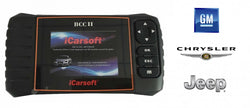 iCarsoft BCC2 - Jeep, GM, Chrysler - Bilskanner