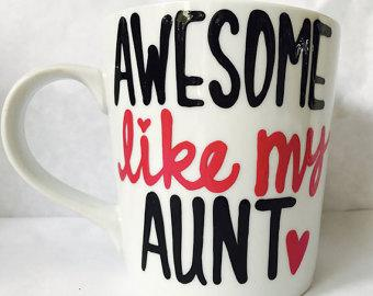 Awesome like my aunt-awesome mug- Gifts for Aunts- Mother's Day Gift awesome like my niece - Pick Me Cups