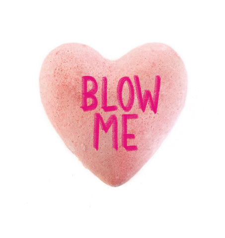 Blow Me- Naughty Conversation Heart Bath Bomb Valentine's Day