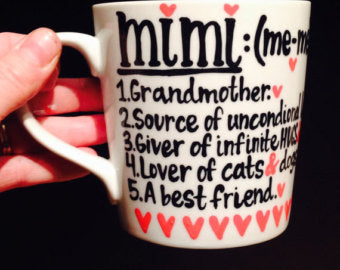 Mimi Definition Meme Grandma Meemaw Grammy-awesome mug- Gifts for Grandmas- Mother's Day Gift - Pick Me Cups