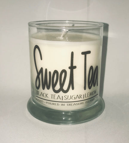 Sweet Tea Florida- 100% soy wax burns 45-50 hours- Florida Black Tea with hints of Lemon and florida oranges