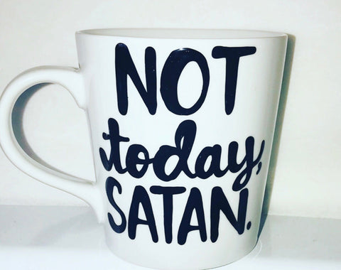 Not Today, Satan- Mom Gift Coworker Gift- Funny Coffee Mugs- gifts for coworkers Mother's Day Gift - Pick Me Cups