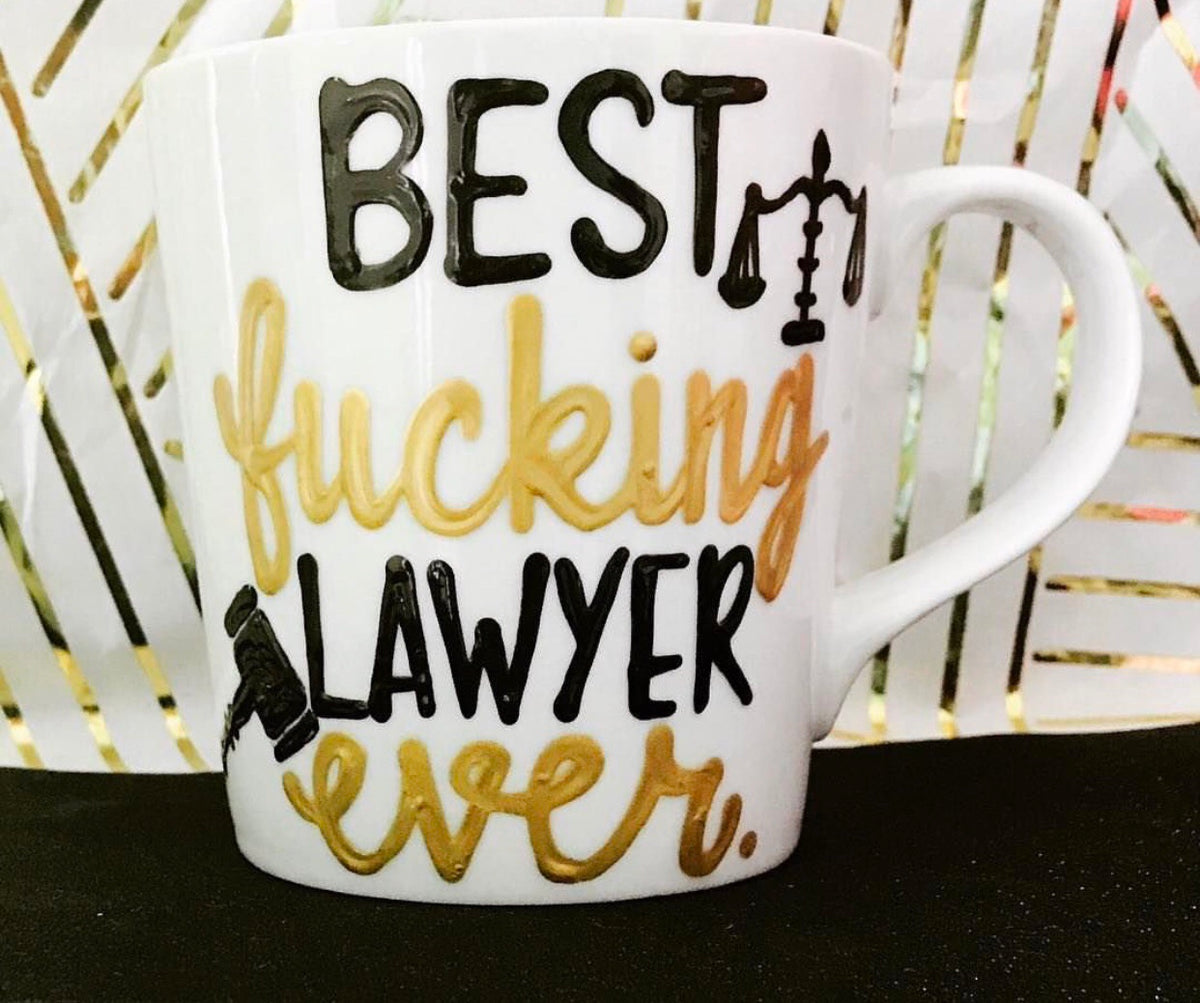 e77779d60c5 Best Fucking Lawyer- Funny Coffee Mugs- gifts for law students and law –  Pick Me Cups