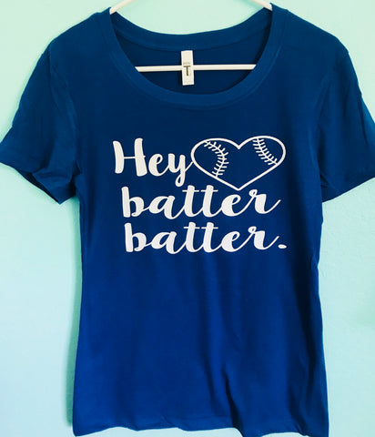 Hey Batter, Batter- Mom baseball or softball mom - Tee or Tank- Mother's Day Gift- Shirts for Moms- Coach Shirts - Pick Me Cups