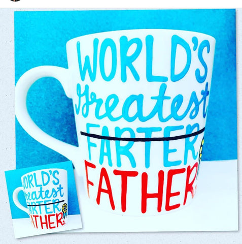 World's Greatest Farter Father- Fart mug Father's Day Gift- Gifts for Dads- Dad Gift- Anniversary Gift- gifts for dad - Pick Me Cups