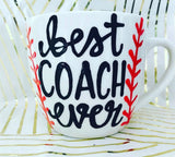 Best coach ever-awesome mug- Gifts for baseball or softball coach - Pick Me Cups