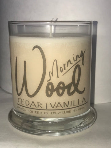Morning Wood- 9oz All Natural Candle- Jar Candle- Cedar Vanilla