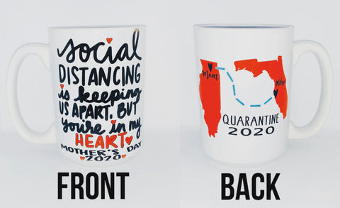 Social Distancing Mother's Day Mug Quarantine Long Distance