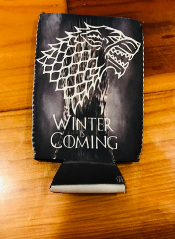 Winter is Coming Neoprene Can Cooler Double Sided