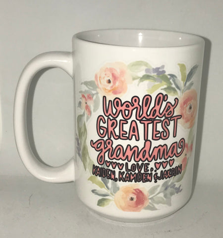 World's Greatest Grandma Ever- Gifts for Grandmas Mother's Day Birthday Coffee Mug - Pick Me Cups