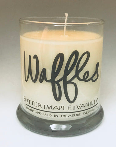 Waffles- 100% soy candle- 9oz jar- burns 45-50 hours-Butter Maple Vanilla