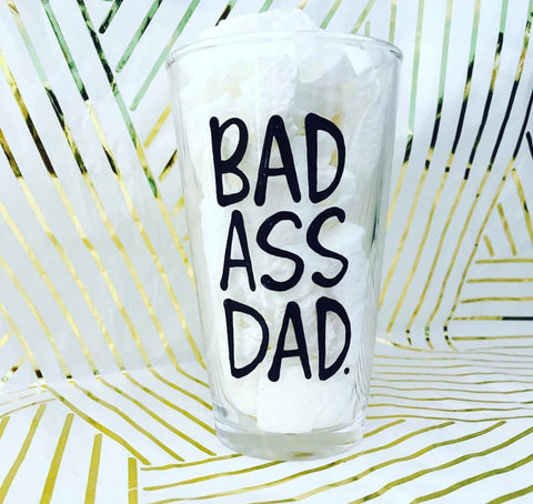 Bad Ass Dad- Father's Day Gift- Gifts for Uncles- Dad Gift- Anniversary Gift- gifts for dad - Pick Me Cups