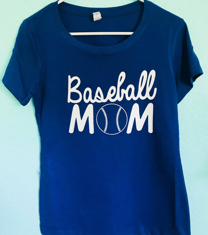 Mom baseball or softball mom - Tee or Tank- Mother's Day Gift- Shirts for Moms- Coach Shirts - Pick Me Cups
