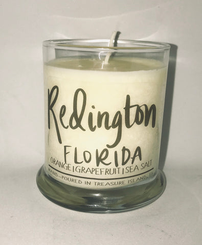 Redington Florida- 100% soy candle- 9oz jar- burns 45-50 hours- Sea salt and grapefruit or Orange Blossom