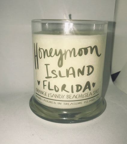 Honeymoon Island Florida- 100% soy wax burns 45-50 hours- Florida Orange with hints of coconut and sea salt