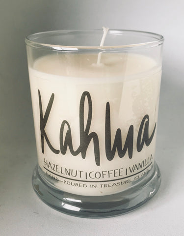 Kahlua- 100% soy candle- 9oz jar- burns 45-50 hours- Hazelnut Coffee and Vanilla