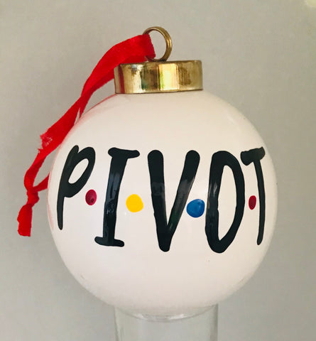 Pivot Friends Christmas ornament- fun white elephant gifts