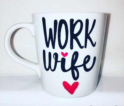 Work Wife Coworker Gift- Funny Coffee Mugs- gifts for coworkers - Pick Me Cups