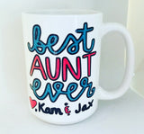 best aunt ever -awesome mug- Gifts for Aunts- Mother's Day Gift - Pick Me Cups