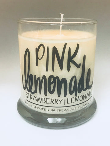 Pink Lemonade- 100% soy candle- 9oz jar- burns 45-50 hours- Lemon Strawberry