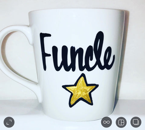 Funcle Rocks Glass or Funcle Mug- Father's Day Gift- Gifts for Uncles- Dad Gift- Anniversary Gift - Pick Me Cups