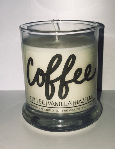 Coffee candle- 100% soy candle- 9oz jar- burns 45-50 hours