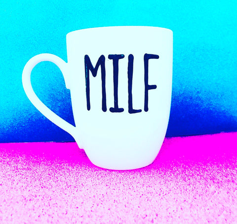 MILF Coffee 12oz Mug- Funny One Word Mugs- Mother's Day Father's Day Stocking Stuffers - Pick Me Cups