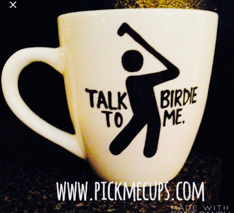 Talk Birdie to Me Gifts for Golfers- Gifts for Golfers- Funny Coffee Mugs - Pick Me Cups