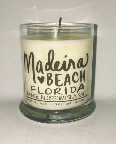 Madeira Florida- 100% soy candle- 9oz jar- burns 45-50 hours- Sea salt and grapefruit or Orange Blossom