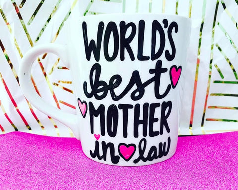 World's Best mother in law-awesome mug- Gifts for MIL Mother's Day- Funny Coffee Mugs - Pick Me Cups
