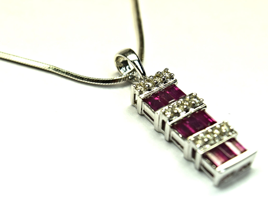 Diamond and Ruby Necklace
