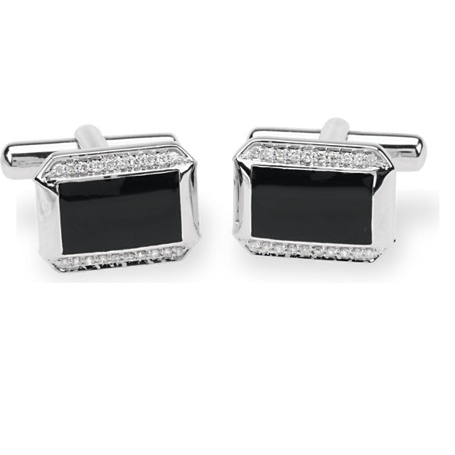 White Gold Cuff Links