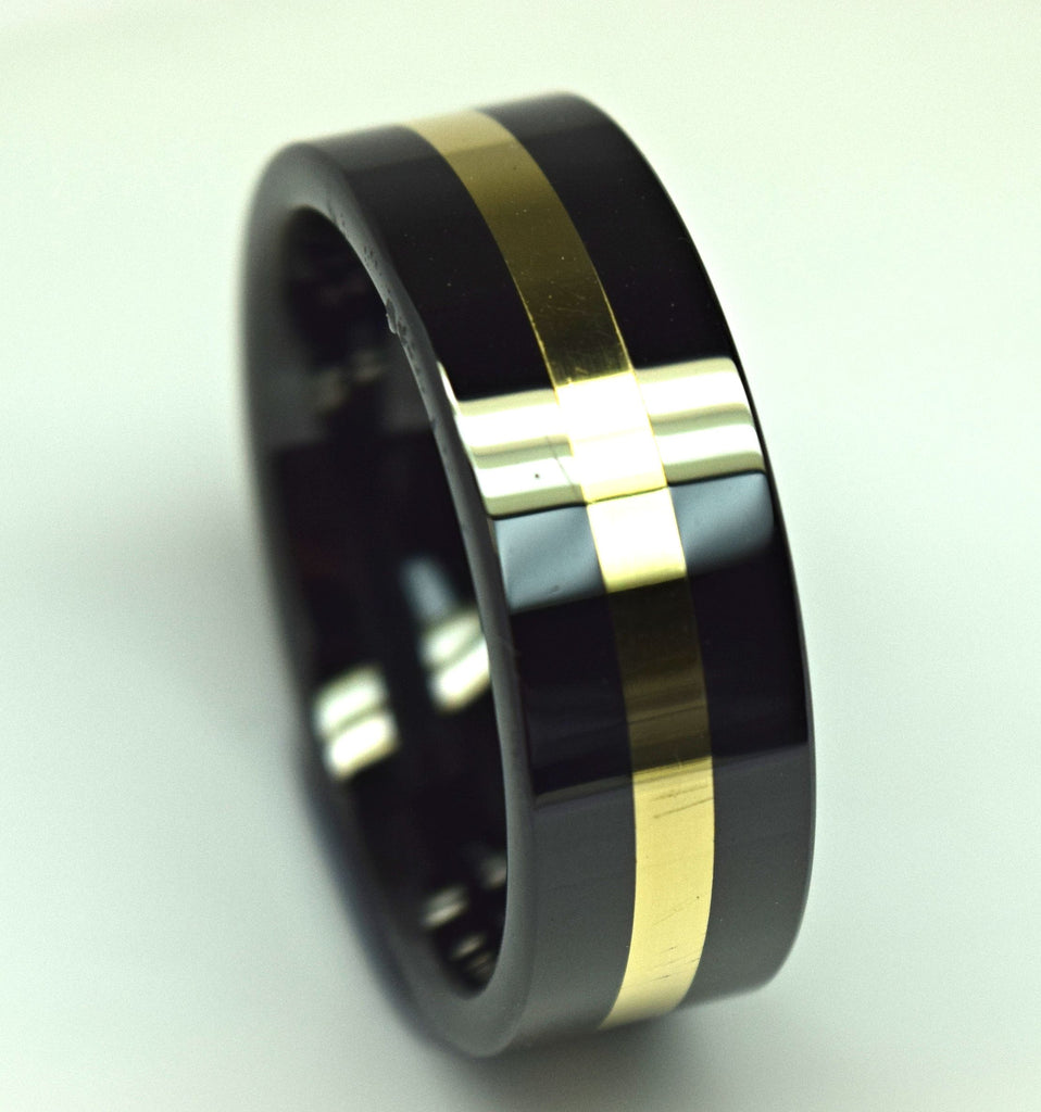 Ceramic Gold Band