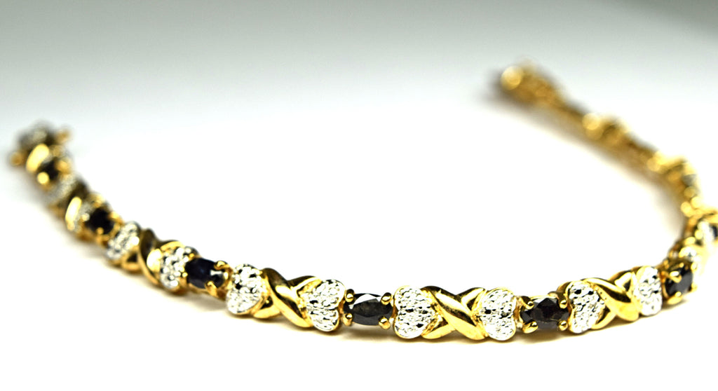 sterling silver gold-plated bracelet