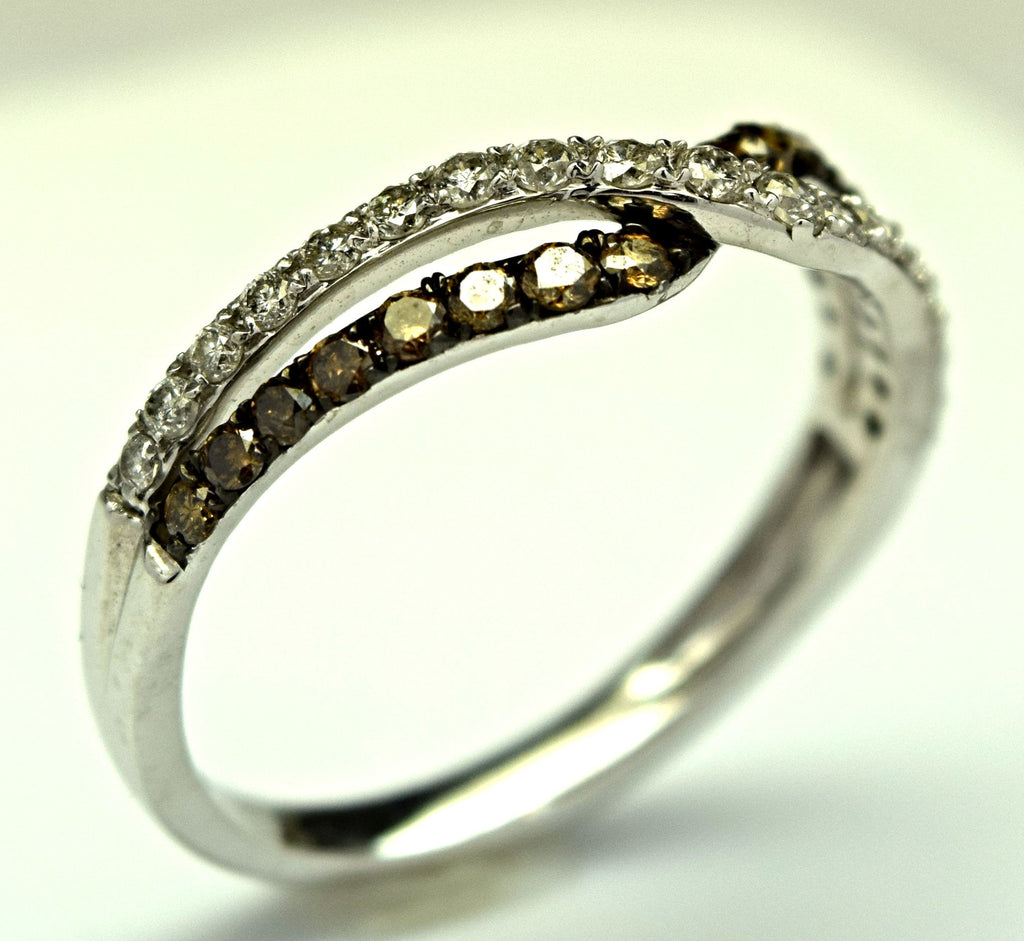 White gold chocolate diamond ring