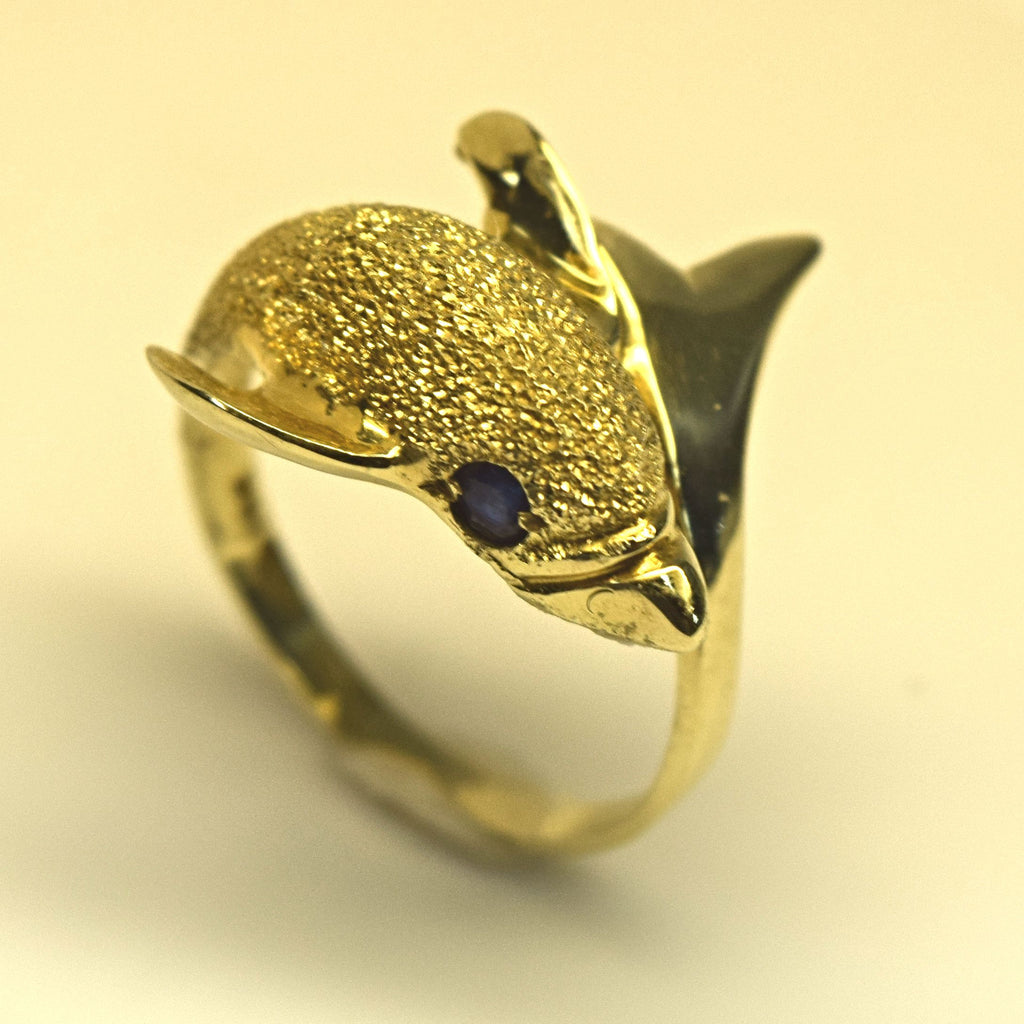 Yellow Gold dolphin ring
