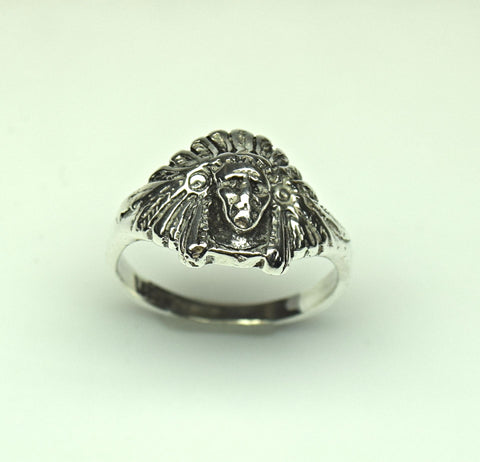Sterling Silver Indian Head Ring