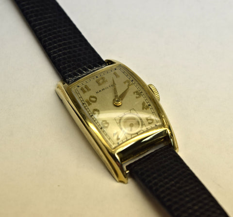 Gold filled hamilton wrist watch