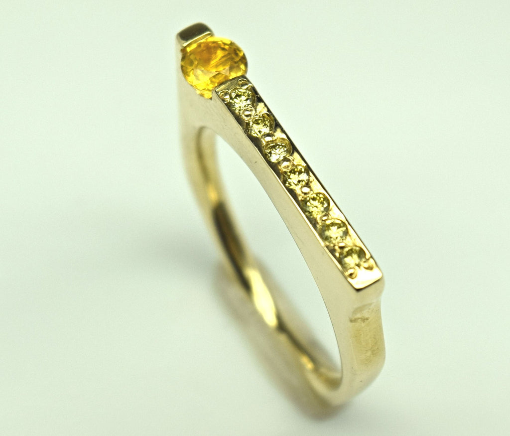 Yellow Gold Yellow Sapphire Ring