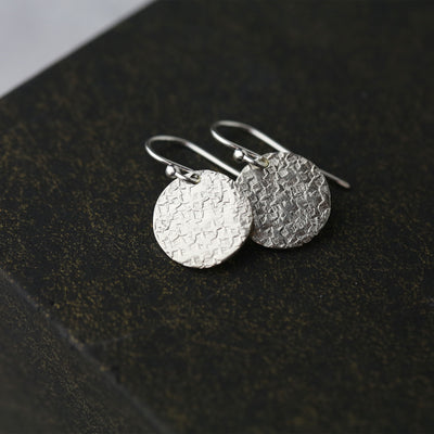 Silver Nugget Threader Earrings