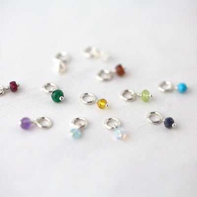 Birthstone Individual Charm - Handmade Jewelry by Burnish