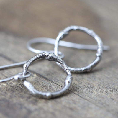 Branch Circle Earrings - Handmade Jewelry by Burnish