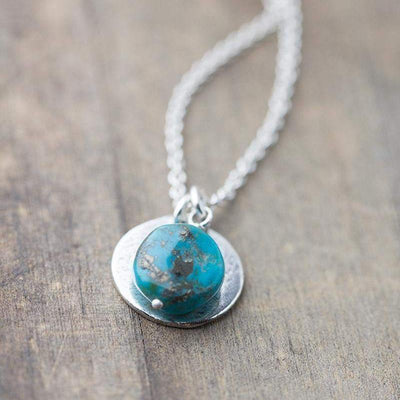 Chunky Raw Turquoise Nugget Necklace - Handmade Jewelry by Burnish
