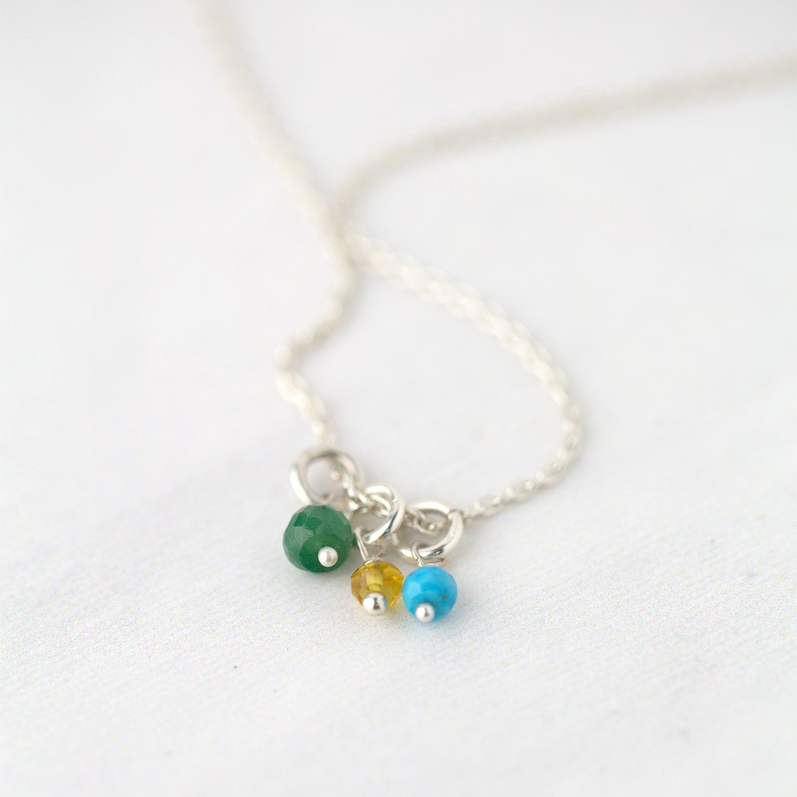 Dainty Birthstone Necklace - 1 or More Stones - Handmade Jewelry by Burnish