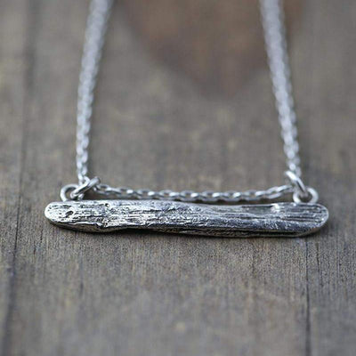 Driftwood Bar Necklace - Handmade Jewelry by Burnish