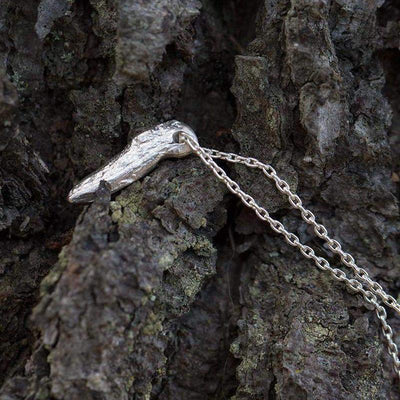 Driftwood Fragment Necklace - Handmade Jewelry by Burnish