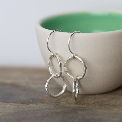 Entwined Branch Circle Earrings - Handmade Jewelry by Burnish