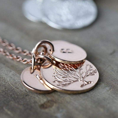 Family Tree Necklace - Rose Gold Filled - Handmade Jewelry by Burnish