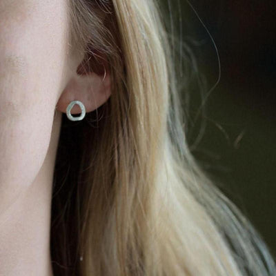 Freeform Stud Earrings - Handmade Jewelry by Burnish