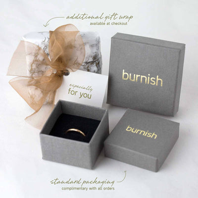Gold Birch Bar Earrings - Handmade Jewelry by Burnish